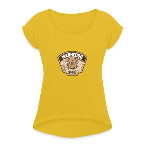 Desert Marne Dog (3rd ID) - Women's Roll Cuff T-Shirt