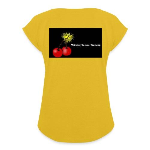 logo w wrd - Women's Roll Cuff T-Shirt