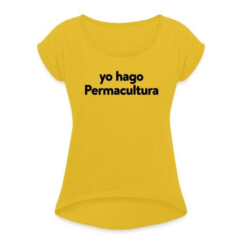 CUBA PDC Women's Organic Tshirt WHITE - Women's Roll Cuff T-Shirt