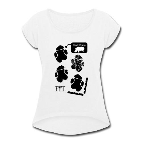 Rhino Algorithm (Light) - Women's Roll Cuff T-Shirt