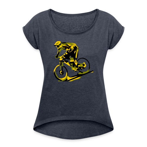 DH Freak - Mountain Bike Hoodie - Women's Roll Cuff T-Shirt