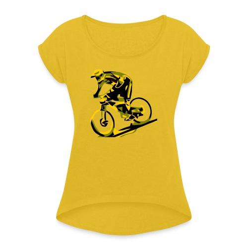 DH Freak - Mountain Bike Hoodie - Women's Roll Cuff T-Shirt