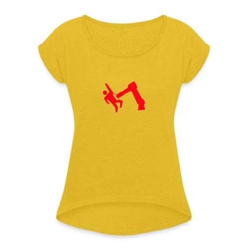 Robot Wins - Women's Roll Cuff T-Shirt