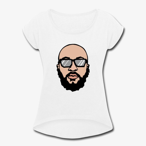 logotipo el cocomike - Women's Roll Cuff T-Shirt