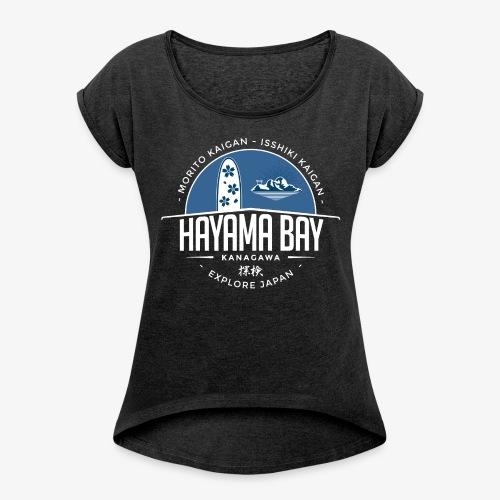 Hayama Bay Blue Scape - Women's Roll Cuff T-Shirt
