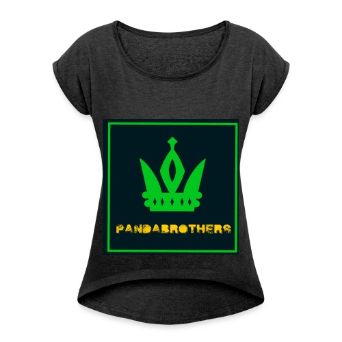 YouTube Channel gifts - Women's Roll Cuff T-Shirt
