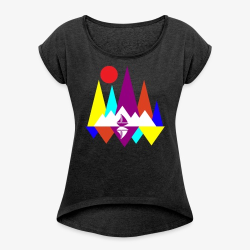 Peace Sailing - Women's Roll Cuff T-Shirt