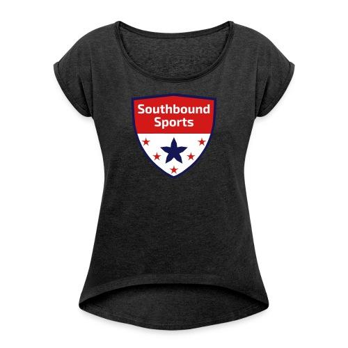 Southbound Sports Crest Logo - Women's Roll Cuff T-Shirt