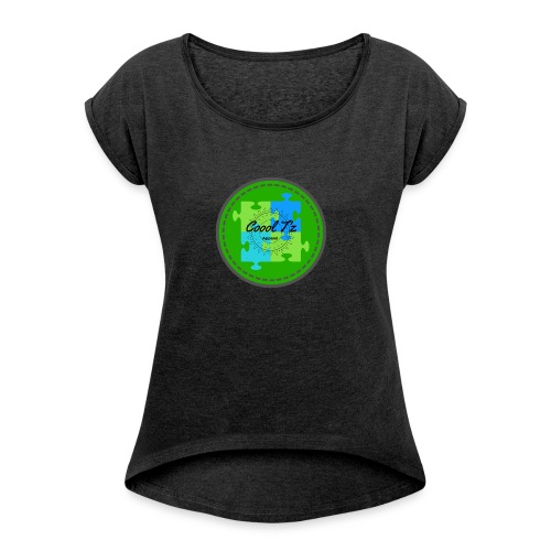 Coool T'z Green - Women's Roll Cuff T-Shirt