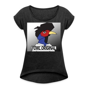 Fowl Original Logo - Women's Roll Cuff T-Shirt