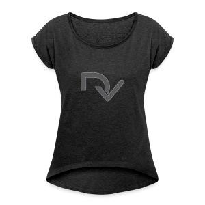 DaveyVlogs - Women's Roll Cuff T-Shirt