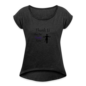 Prince - Darling Nikki Thank U for a Funky Time - Women's Roll Cuff T-Shirt