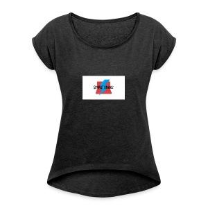 Simple Studios Prototype T-Shirt (White) - Women's Roll Cuff T-Shirt