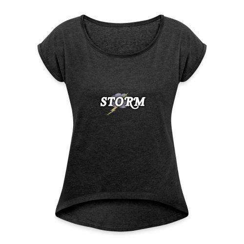 STORM Clan Gaming Thunder Logo - Women's Roll Cuff T-Shirt