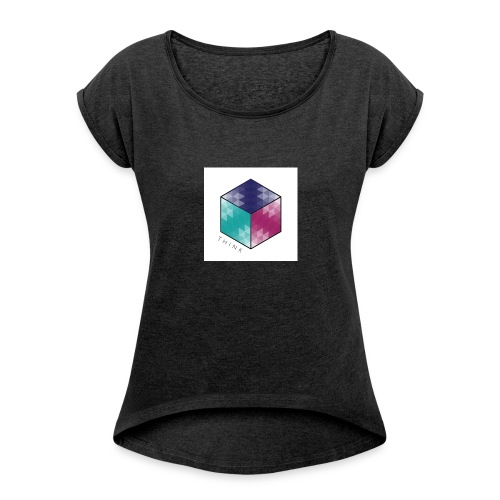 Think outside of the box tee 2.0 - Women's Roll Cuff T-Shirt