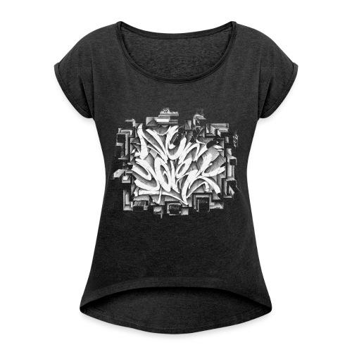 Kostya - NYG Design - REQUIRES WHITE SHIRT COLOR - Women's Roll Cuff T-Shirt