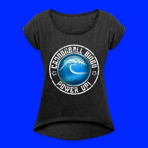 Vintage Tsunami Power-Up Tee - Women's Roll Cuff T-Shirt