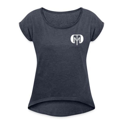 dtdm 2 white png - Women's Roll Cuff T-Shirt