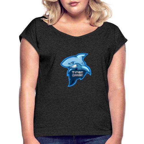 Tides Logo - Women's Roll Cuff T-Shirt
