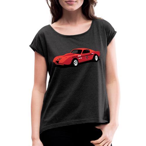 Vintage Hill Climb Race Car - Women's Roll Cuff T-Shirt