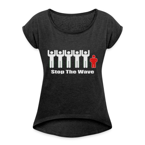 Men's Stop The Wave Logo T-Shirt - Women's Roll Cuff T-Shirt