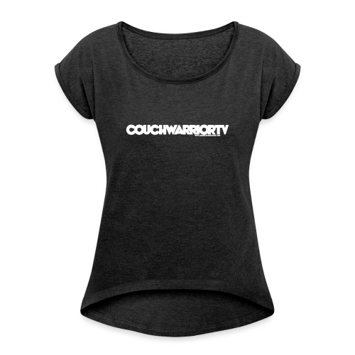 COUCHWARRIORTV Logo Gear - Women's Roll Cuff T-Shirt