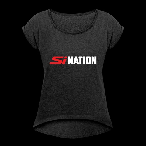 SiNation White - Women's Roll Cuff T-Shirt