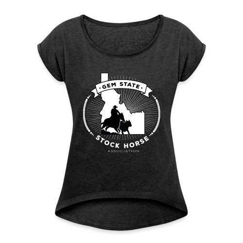 Sunburst Logo - Women's Roll Cuff T-Shirt