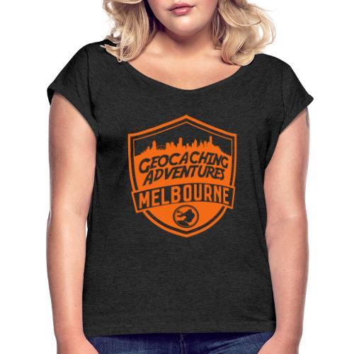 GCMelb vector - Women's Roll Cuff T-Shirt