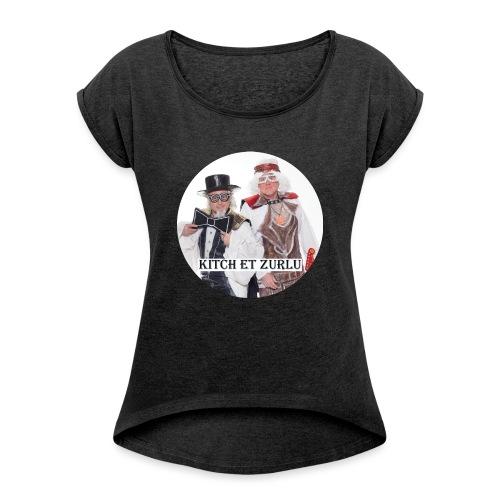 macaroon - Women's Roll Cuff T-Shirt