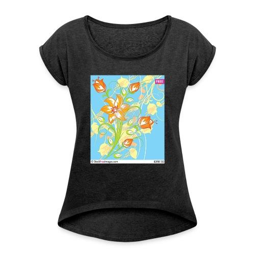 flowers67 - Women's Roll Cuff T-Shirt