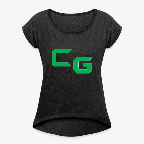 certifiedatol gaming logo - Women's Roll Cuff T-Shirt
