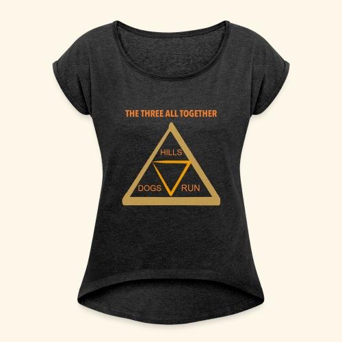 Run4Dogs Triangle - Women's Roll Cuff T-Shirt