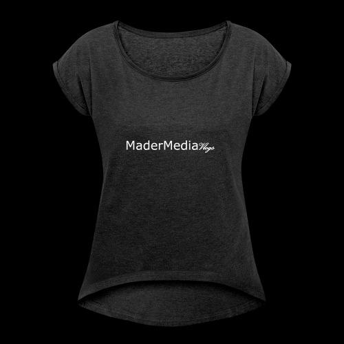Simple MMV Logo - Women's Roll Cuff T-Shirt