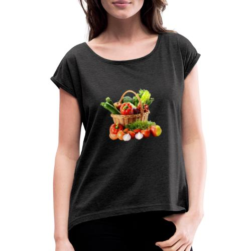 Vegetable transparent - Women's Roll Cuff T-Shirt
