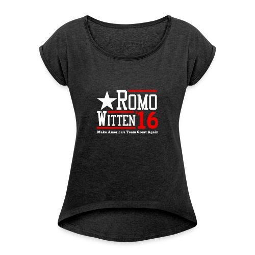 Make America's Team Great Again - Women's Roll Cuff T-Shirt