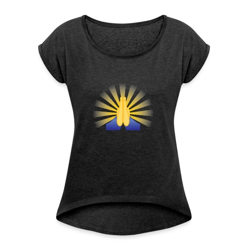 Prayer Hands - Women's Roll Cuff T-Shirt