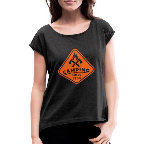 Campfire - Women's Roll Cuff T-Shirt