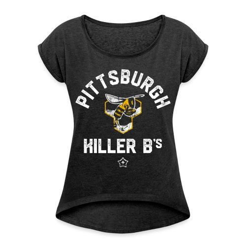 b s png - Women's Roll Cuff T-Shirt