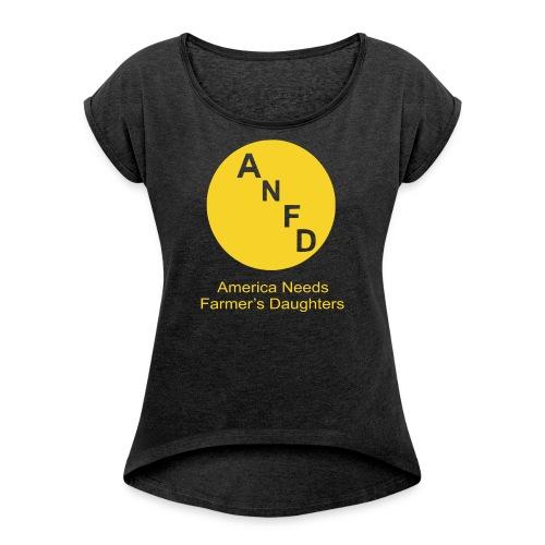anfd png2 - Women's Roll Cuff T-Shirt
