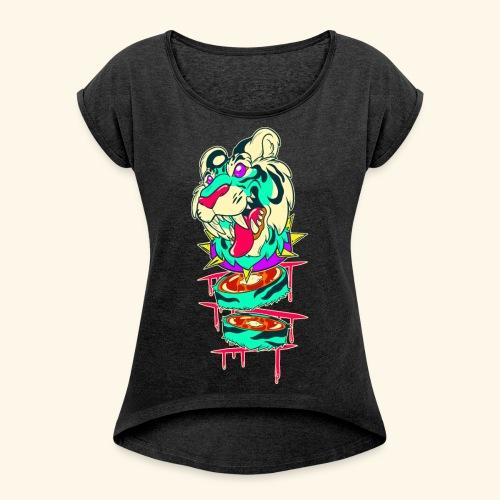 - Decaptiger - - Women's Roll Cuff T-Shirt
