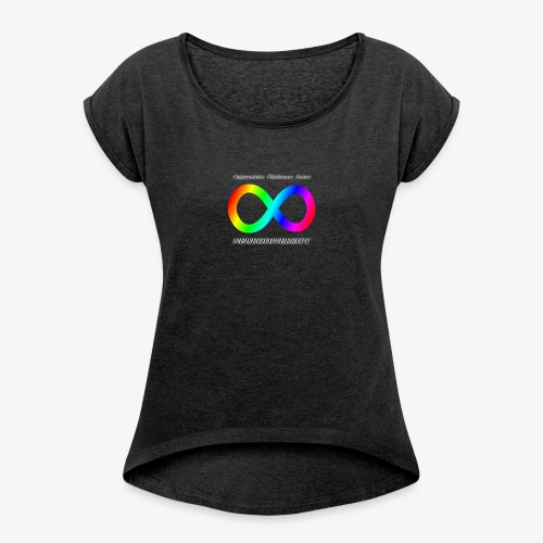 Embrace Neurodiversity - Women's Roll Cuff T-Shirt