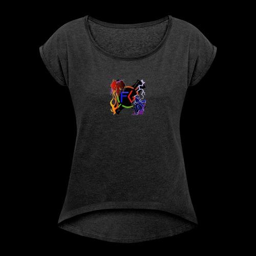 Fable Gaming logo - Women's Roll Cuff T-Shirt