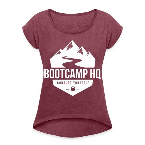 Bootcamp HQ png - Women's Roll Cuff T-Shirt