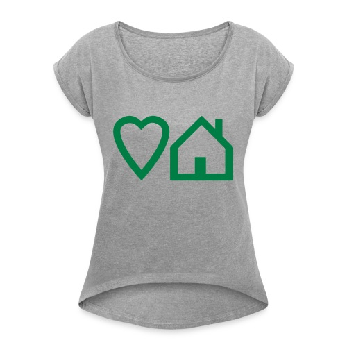 ts-3-love-house-music - Women's Roll Cuff T-Shirt