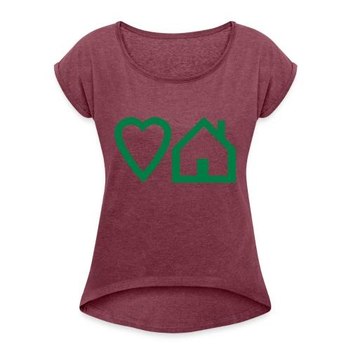 ts-3-love-house-music - Women's Roll Cuff T-Shirt