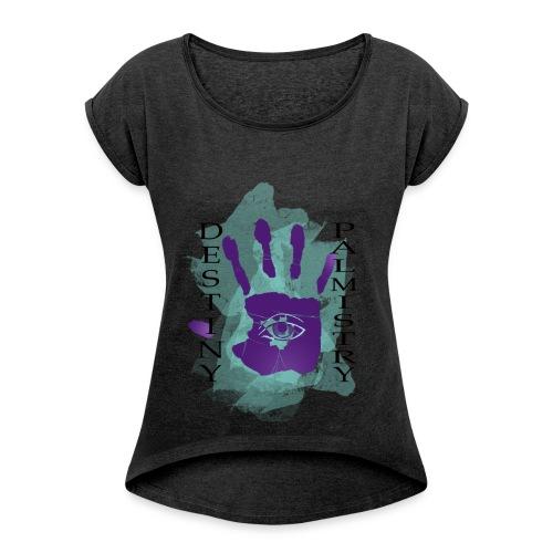 logo destiny new design 2 - Women's Roll Cuff T-Shirt