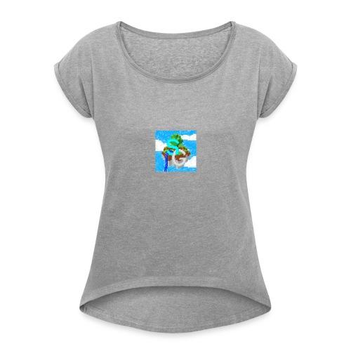 SkyGames Logo RETRO - Women's Roll Cuff T-Shirt