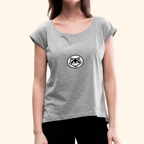 pixer wolf - Women's Roll Cuff T-Shirt