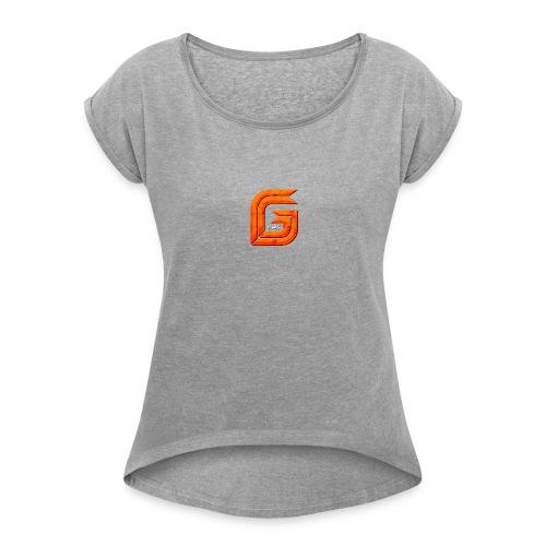 Classic Small GG Lad Logo - Women's Roll Cuff T-Shirt